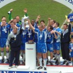 The Latics team of 2002/2003 celebrate winning the championship of the Second Division (photo copyright www.barnsleyphotos.co.uk)