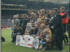 The team get together at Wembley in 1999 after winning the AutoWindscreens Shield At the time this represented success and meant a lot to us We will not forget our roots