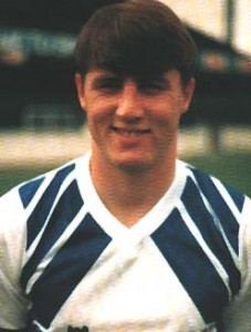 A young centre-forward in 1987
