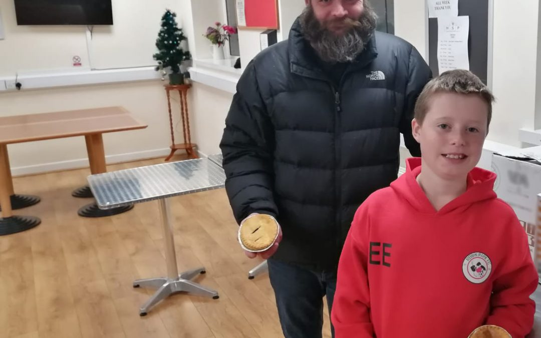 Free Pies go down well with the homeless