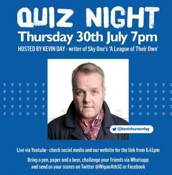 Wigan Athletic Quiz night, is your team ready?