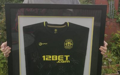 Winner of framed shirt signed by the FA Cup winning team