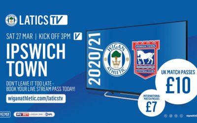 Latics v Ipswich on TV earns Club money